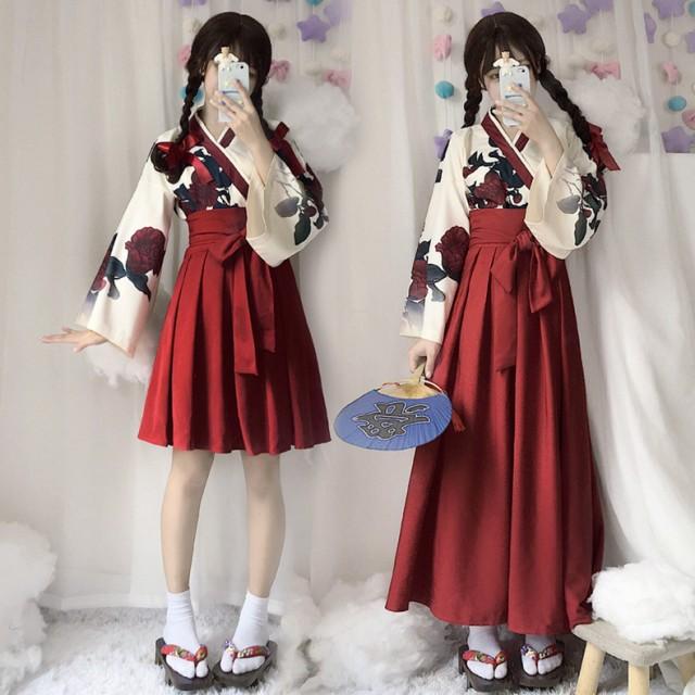 人気 新作 レディース 2点セット コスプレ 着物 コスプレ 和服 和装 エロ コスプレ衣装 浴衣 巫女 和風 花柄 花魁 ロング ミニ スカ