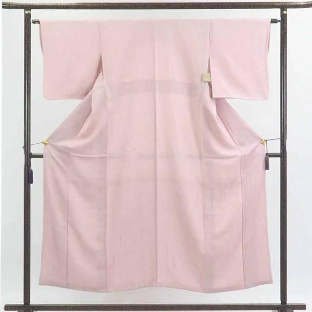 【】リサイクル着物 色無地 / 正絹薄ピンク地袷色無地 / レディース【裄Mサイズ】
