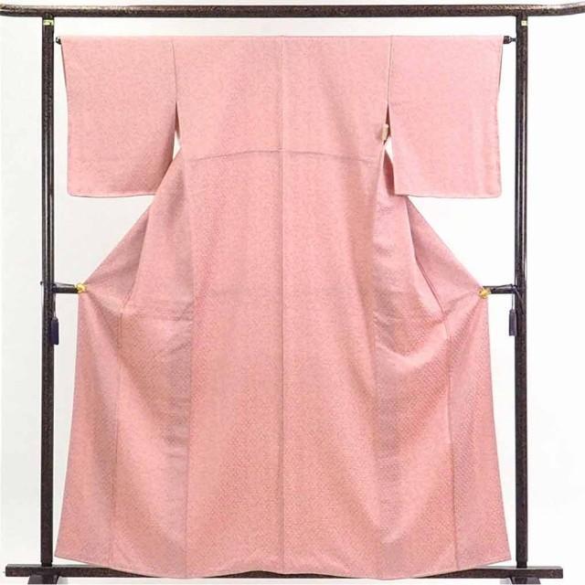 【】リサイクル着物 小紋 / 正絹ピンク地蔦花柄袷小紋着物 / レディース【裄Mサイズ】