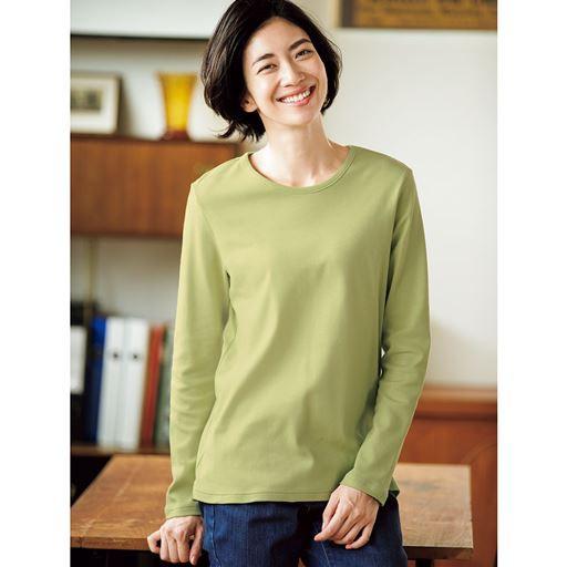 裏起毛クルーネックTシャツ 3L|9555-645909