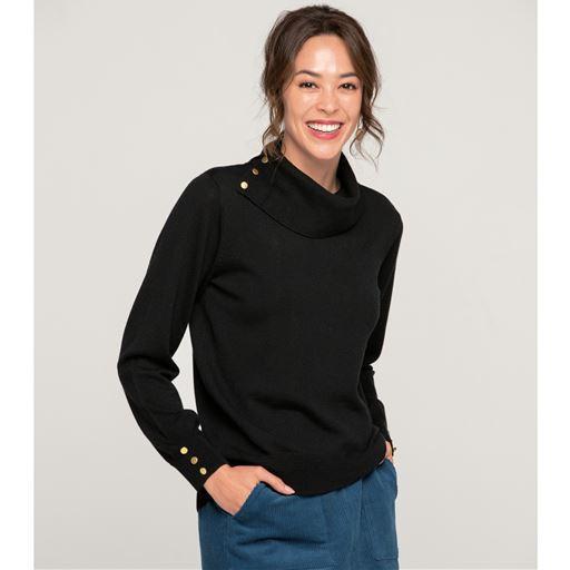 ウォッシャブルタートルネックセーター(洗濯機OK) L LL 3L 大きいサイズ レディース ファッション 服 プランプ plump|9640-656080