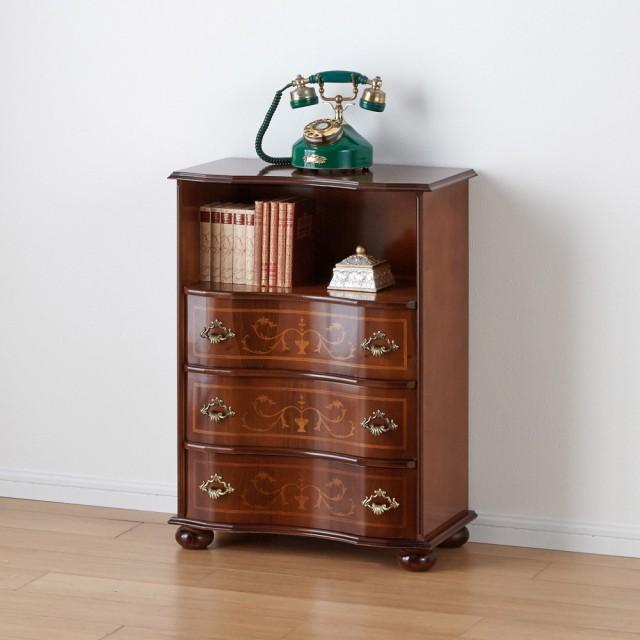 イタリア製象がん収納家具 ファックス・電話置き台幅58高さ78.5cm 658218