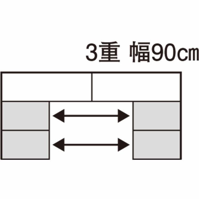 7ae3b71712 スライド式CD&コミックラック 3重タイプ5段 幅90cm [CD用] 665556の ...