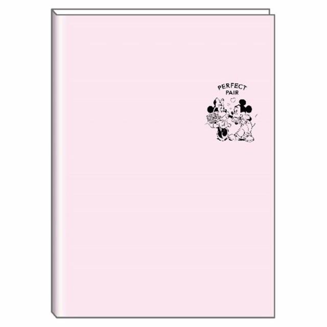 ミッキー ミニー 手帳 2020年 A5 マンスリー スケジュール帳 月間 ワンポイント 合皮カバー ライトピンク ディズニー メール便可