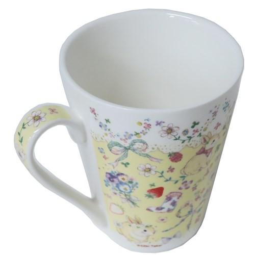 たけいみき マグカップ 陶器製mug うさぎ 300ml ガーリーイラスト グッズ
