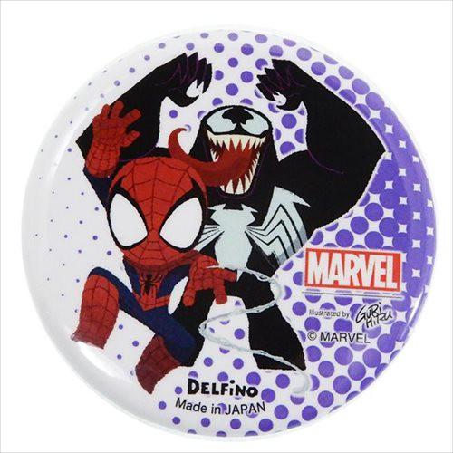 スパイダーマンヴェノム 缶バッジ 56mmカンバッジ グルヒル マーベル コレクション雑貨 キャラクター グッズ メール便可