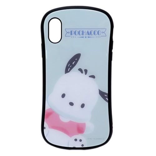 ポチャッコ iPhoneXRケース アイフォンXR ICカードポケット内蔵ハイブリッドガラスケース サンリオ 6.1インチモデル メール便可