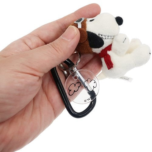 Peanuts Snoopy Carabiner Key Charm Mascot Flying Ace Snoopy