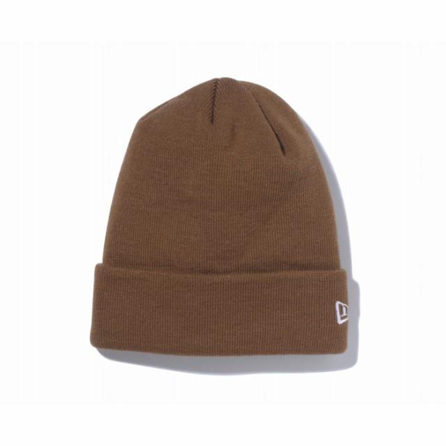 ニューエラ NEW ERA ベーシック カフニット ブラウン × ホワイトフラッグ ニットキャップ 帽子 日本正規品
