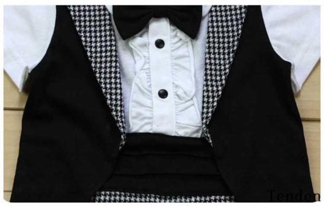 3afb1542ed659 男の子 フォーマル カバーオール スーツ 半袖 ロンパース タキシード ...