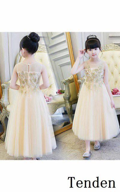 1f1569382adda 子供ドレス 女の子 フォーマルワンピース 演出服 姫 パーティードレス シャンペン チュチュワンピース チュールドレス ドレス