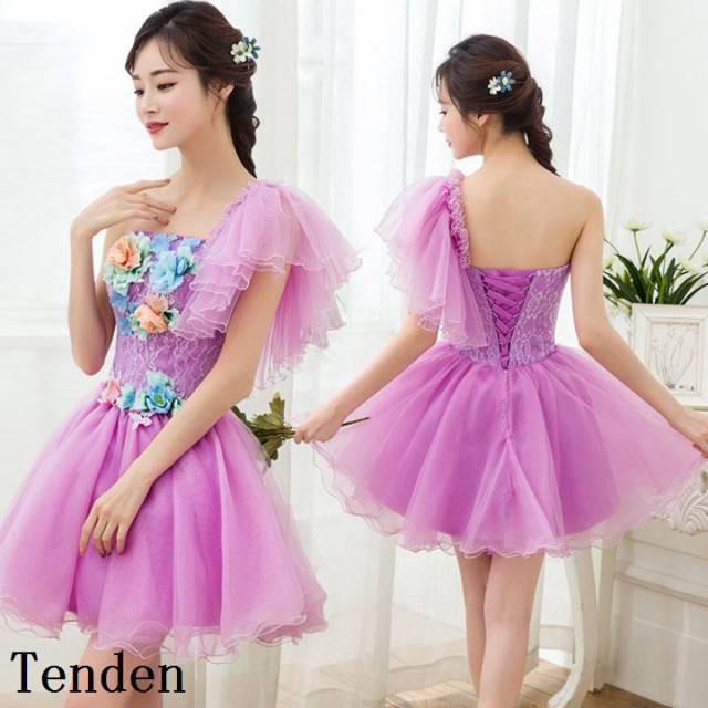 144cf41cb5101 ブライズメイドドレス ミニドレス カラードレス ウェディングドレス ブライズメイド ワンピース カラーミニドレス 結婚