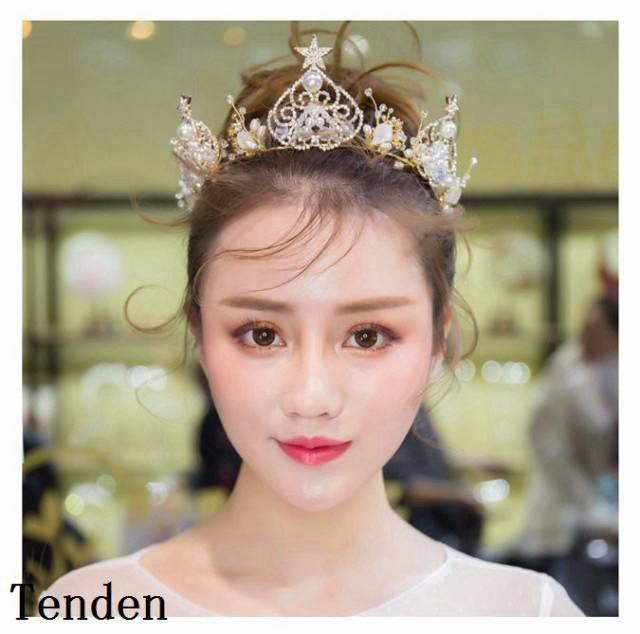 7638388341b96 ウエディング クラウン ウェディング 王冠 ティアラ ヘッドドレス ブライダル用 結婚式 ヘアアクセサリー 二次会 王冠 パーティー