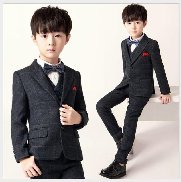 abe06da6ed74f 4点セット 子供服スーツ ジュニア フォーマルスーツ 男の子 入学式 キッズスーツ 男児 卒