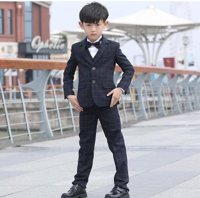 9f81b4a81bf0c 子供服 100~160 タキシードスーツ ジュニア フォーマルスーツ 男の子 卒園式 ピアノ 5