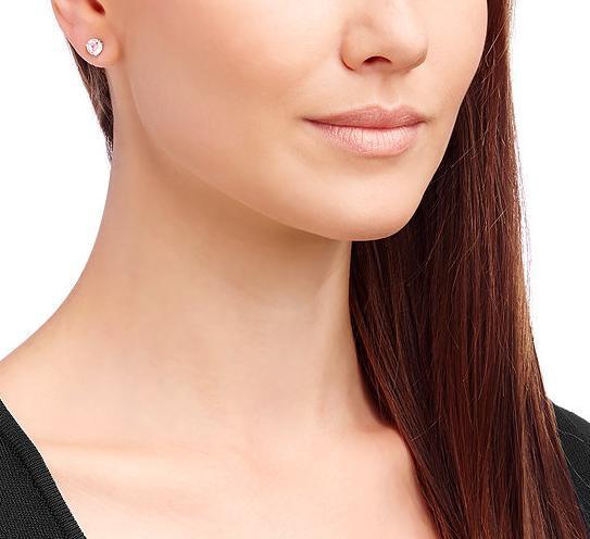 the latest c0f13 ec348 スワロフスキー ソリティア ピアス ピンク 5112158 Swarovski Solitaire Pierced Earrings □|au  Wowma!(ワウマ)