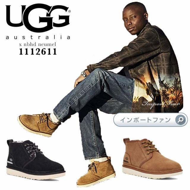 【代引き不可】 x UGG neumel ニューメル □ アグ UGG メンズ レースアップ 1112611 NBHD カジュアルブーツ シープスキン x nbhd-靴・シューズ