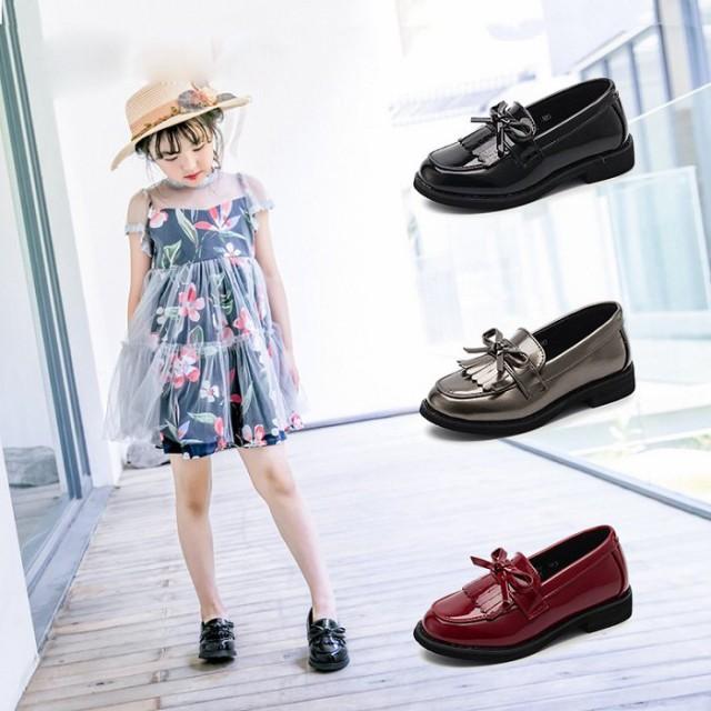 e9d324d251aa4 ローファー 女の子 シューズ フォーマル靴 フォーマルシューズ キッズ 子供 ジュニア 入園式 入学式 卒園