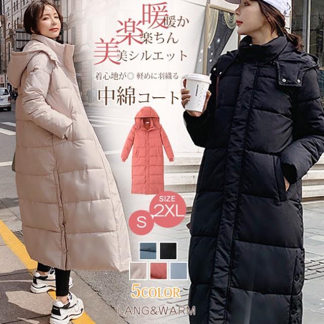 人気商品の 中綿コート レディース ロング サイドボタン スリット フード付き ゆったり 大きいサイズ オーバーサイズ 厚手 ボリューム, ヒガシモコトムラ 45a3606a