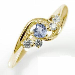 独創的 リング 10金 絆 ピンキーリング ハート 誕生石 ダイヤモンド 指輪 タンザナイト レディース【送料無料】, まーぶるPC 0e85dcb4