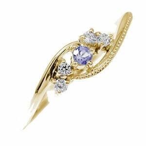 当店だけの限定モデル 指輪 18金 ピンキーリング 18金 タンザナイト 絆 誕生石 誕生石 指輪 ダイヤモンド ミル 指輪 レディース【送料無料】, 家具のいいマイルーム:68812d80 --- chevron9.de