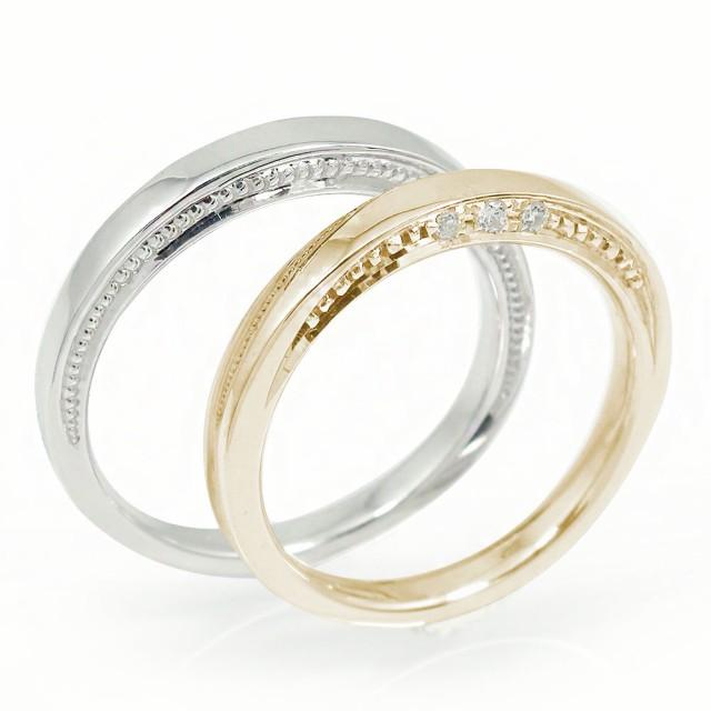 大勧め ペアリング マリッジリング メンズ 誕生石 ダイヤモンド 2本セット 18金 誕生石 結婚指輪 ホワイトゴールドイエローゴールド メンズ ダイヤモンド セット価格, コマエシ:d98819c6 --- chevron9.de