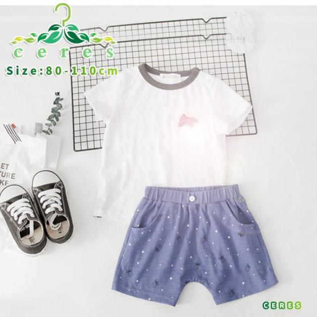 b15d2a308b820 子供服 上下セット 夏 男の子 セットアップ 半袖Tシャツ ショットパンツ キッズ 韓国子供服