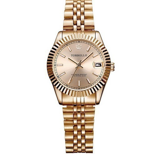 cheap for discount 624b8 65de0 レディース腕時計 ブランド TORBOLLO ファッションウォッチ ステンレス 防水 シンプル 洗練されたデザイン ゴールド