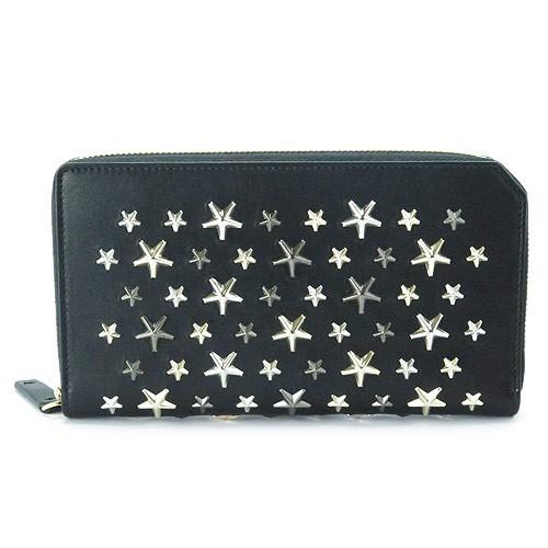 最新最全の ジミーチュウ 長財布 CARNABY LTR BLACK×MET MIX 黒 ブラック×メタリックミックス, オオガキシ 806ff658