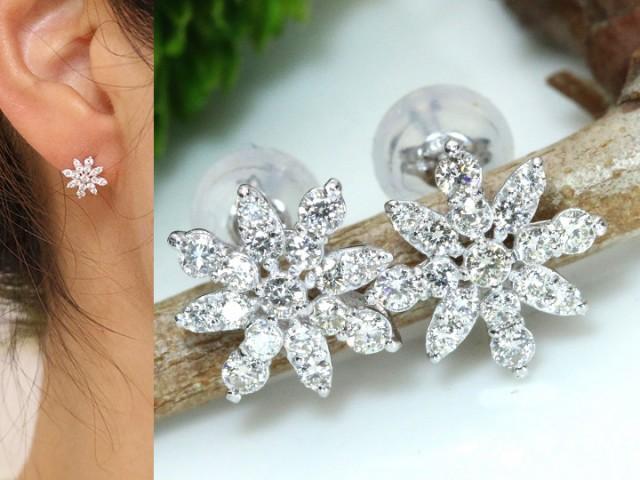 割引購入 ダイヤモンド合計0.4ct ダイヤ尽くし K18WGホワイトゴールドピアス イヤリング加工可能 雪の結晶, ミルキーフォックス:4efb9664 --- zafh-spantec.de