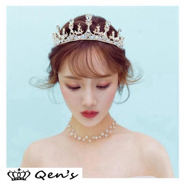 67becdcf9de52 ウエディング クラウン ウェディング ティアラ ヘッドドレス ブライダル用 ティアラ 王冠 結婚式 二次会 花嫁 王冠 ヘア