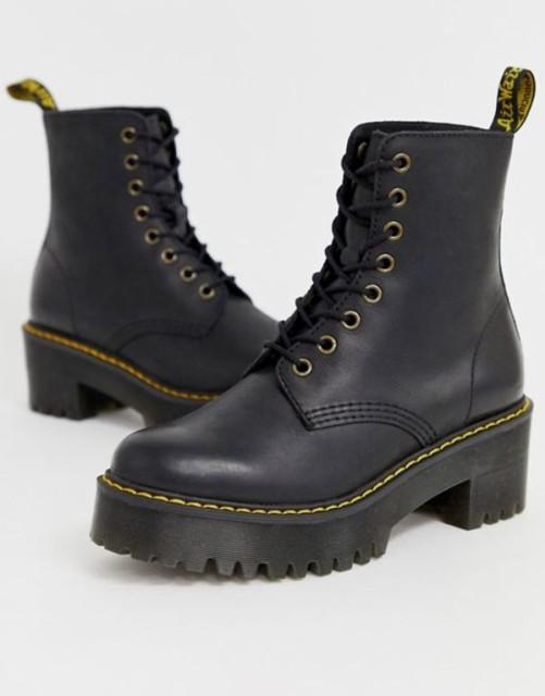 【感謝価格】 ドクターマーチン レディース ankel Hi ブーツ・レインブーツ シューズ Wyoming Dr Martens Shriver Hi Wyoming heeled ankel boots in black Black, LienBaby  (リアンベビー):da3ee475 --- pfoten-und-hufe.de