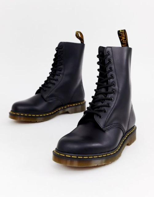 【正規取扱店】 ドクターマーチン メンズ Martens ブーツ 10-eye・レインブーツ シューズ Dr Martens 1490 10-eye メンズ boots in black Black, 保障できる:6fa9b454 --- kzdic.de