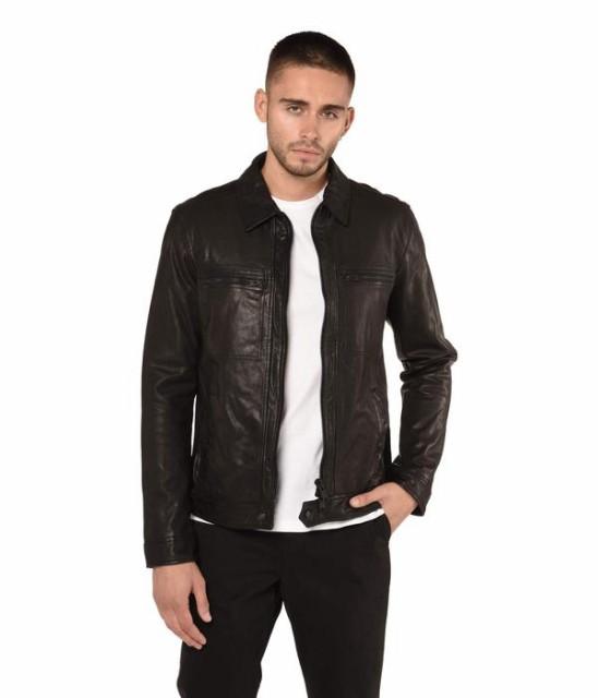 100%安い オールセインツ メンズ Jacket コート アウター メンズ Lark Leather Jacket アウター Black, 笠原餅店:9db83105 --- schongauer-volksfest.de