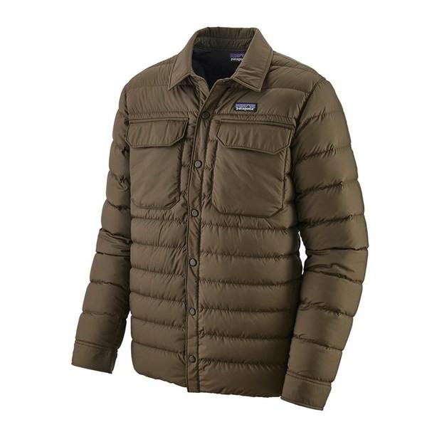 人気特価 パタゴニア メンズ ジャケット・ブルゾン アウター Patagonia Silent Down Shirt Logwood Brown, 三根町 d0e1f673