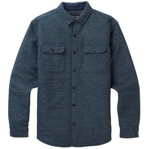 【本物保証】 バートン メンズ シャツ トップス Burton Brighton Insulated Flannel Mood Indigo Twill Yard Dye, ミカワマチ 6eba6a2d