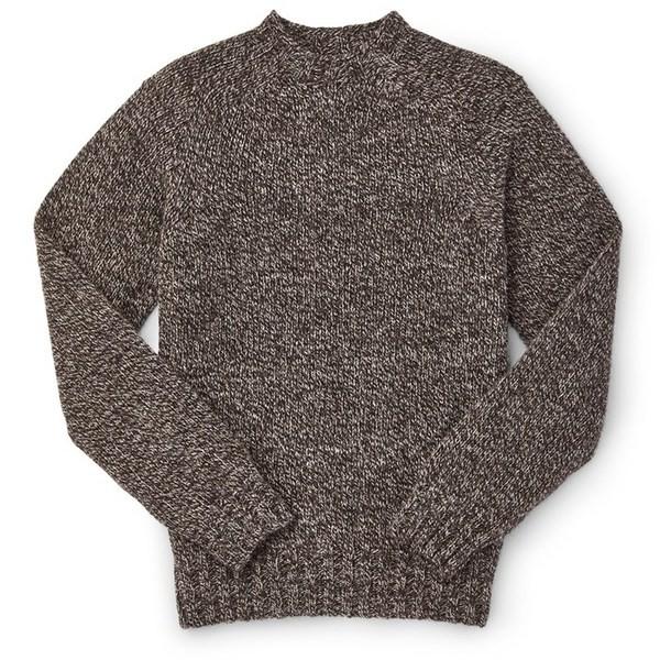 最も信頼できる フィルソン メンズ ニット・セーター アウター Filson 3GG Crewneck Sweater Dark Brown Mix, 波田町 96d3d74d