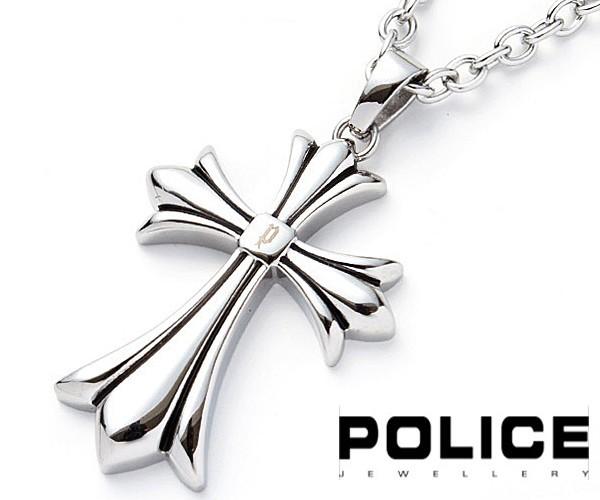 b869d3df871f95 POLICE ポリス GRACE グレース クロス 十字架 ネックレス ステンレス メンズ 25154PSS01