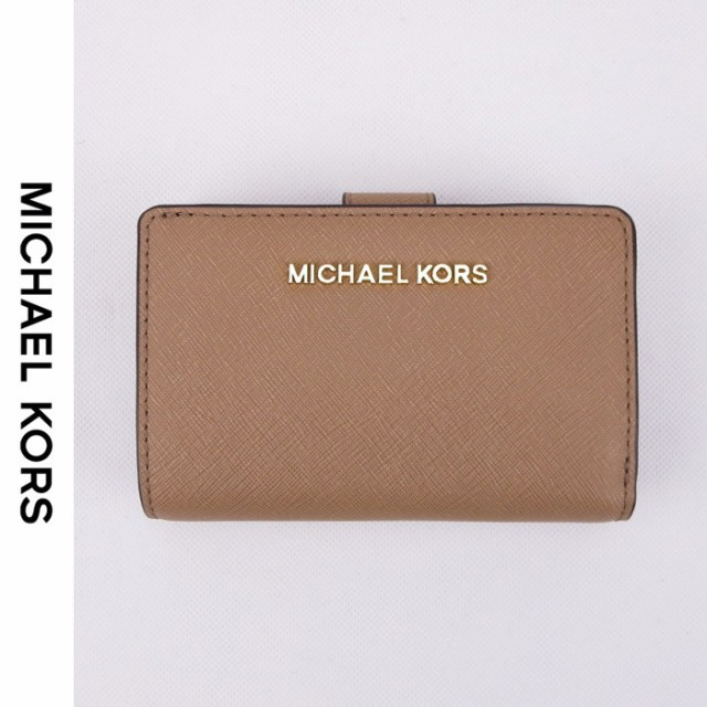 promo code ff275 4f42e MICHAEL KORS(マイケルコース )JET SET TRAVEL BIFOLD ZIP COIN WALLET 折財布 DK KHAKI|au  Wowma!(ワウマ)