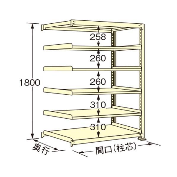 激安な 扶桑金属工業 中量ラック 1200×450×1800mm アイボリー WM1812M06R 1点, シザイコム c9cb85c1