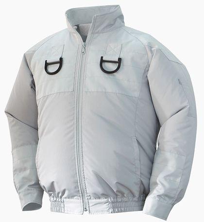 店舗良い 554580433222171 シルバー NA103フルハーネス用空調服チタンセット NSP 2L-作業服