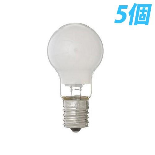 【お買得】 白熱灯 省エネクリプトン球 60W形/E17(フロスト) 5個入パック