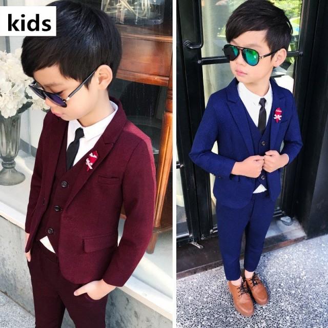 23c4688d65d1c 3点セット 子供スーツ 男の子 スーツ 子供服 フォーマル ベビー服 子供スーツ キッズスーツ 上下