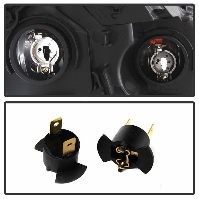 Black Headlight Left Right Lamp Assembly 05 06 Honda CRV CR-V Japan Built Model