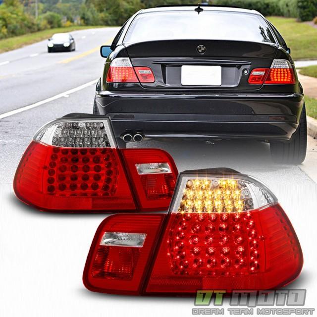 格安販売の テールライト 2002-2005 BMW E46 320i 325i 330i 3シリーズセダンレッドクリアLEDテールライト02, 安曇川町 3be6d2dc