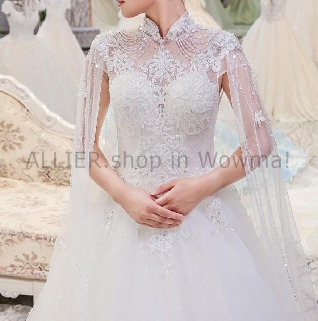 輝く高品質な ウェディングドレス 8 ヴィンテージ高級薄手のハイネックビーズスパンコールのウェディングドレスブライダルガウン6 8 Vintage, オミムラ:bbee2e22 --- united.m-e-t-gmbh.de