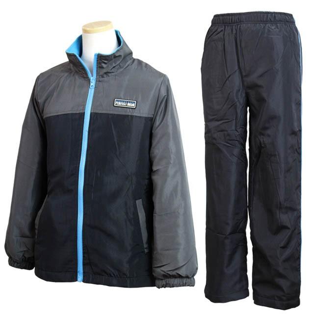 c00f7b075462a ウィンドブレーカー 上下セット 男の子 ジュニア キッズ 子供 ジャケット ウォームアップスーツ 全2色