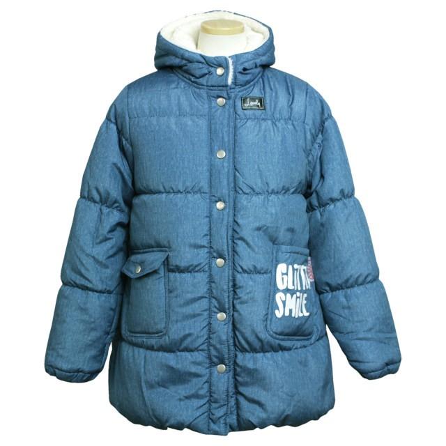 b59f406208c39 ジャンパー 子供 ジュニア キッズ 女の子 中綿 コート 裏ボア ジャケット アウター 140cm 150cm 160cm 全2