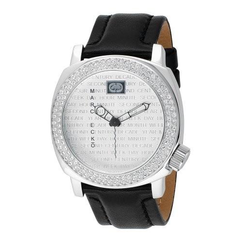 品質一番の - ECKO MARC - Homme Bracelet cuir Analogique en Montre E95012G1 - noir --腕時計メンズ