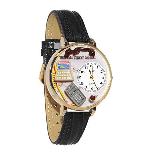 欲しいの 会計士 黒パッド入りレザーバンド ゴールドフレーム腕時計 #G0610005, 博多ハシケン夢 1cb44c59